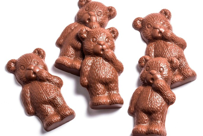 Chocolate teddy bears.