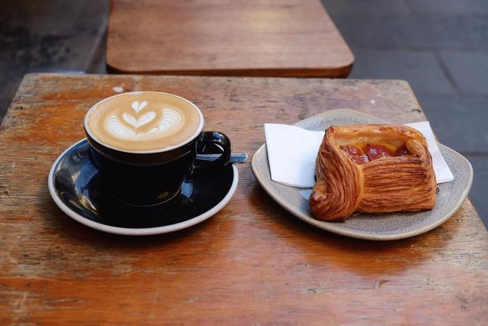 Coffe and Danish pastry.