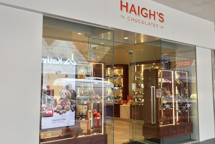 Outside of Haigh's store in Elizabeth Street.