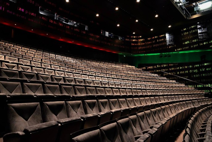 Rows of seating inside Southbank Theatre.